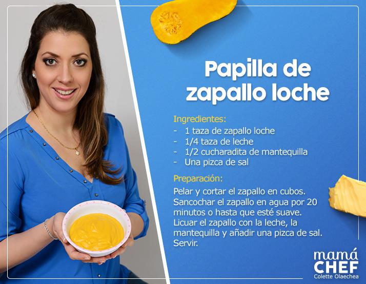 Papilla de zapallo loche para darnos un gustito receta para beb s de 6 meses a m s blogs - Papillas para bebes de 6 meses ...