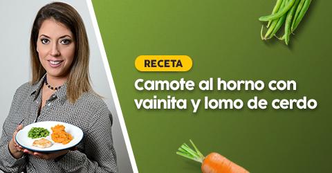 Hola! Hoy les comparto una receta súper fácil de preparar para bebés de 8 meses a más. En mi casa todos comimos lo mismo ese día. La idea es que poco a poco nos vayamos adaptando a un mismo menú para toda la casa. Menú:  Ingredientes: -1 camote mediano -1 taza de vainitas -1/2 de cucharadita de aceite de oliva -Una pizca de sal yodada (opcional) - Un lomo de cerdo - Romero (opcional) Preparación Camotes: Lavar, secar y embadurnar el camote con aceite de oliva. Precalentar el horno a 350 grados y colocar el camote, cocinar hasta...