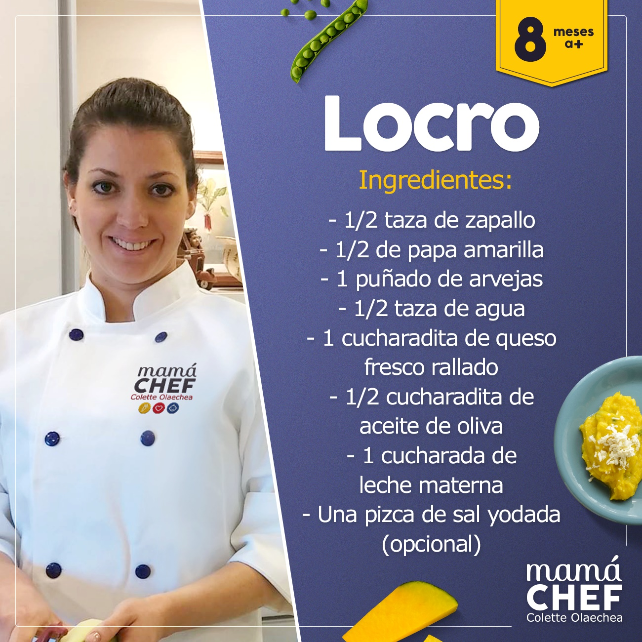 Locro mamá chef colette olaechea recetas  papillas bebes 8 meses
