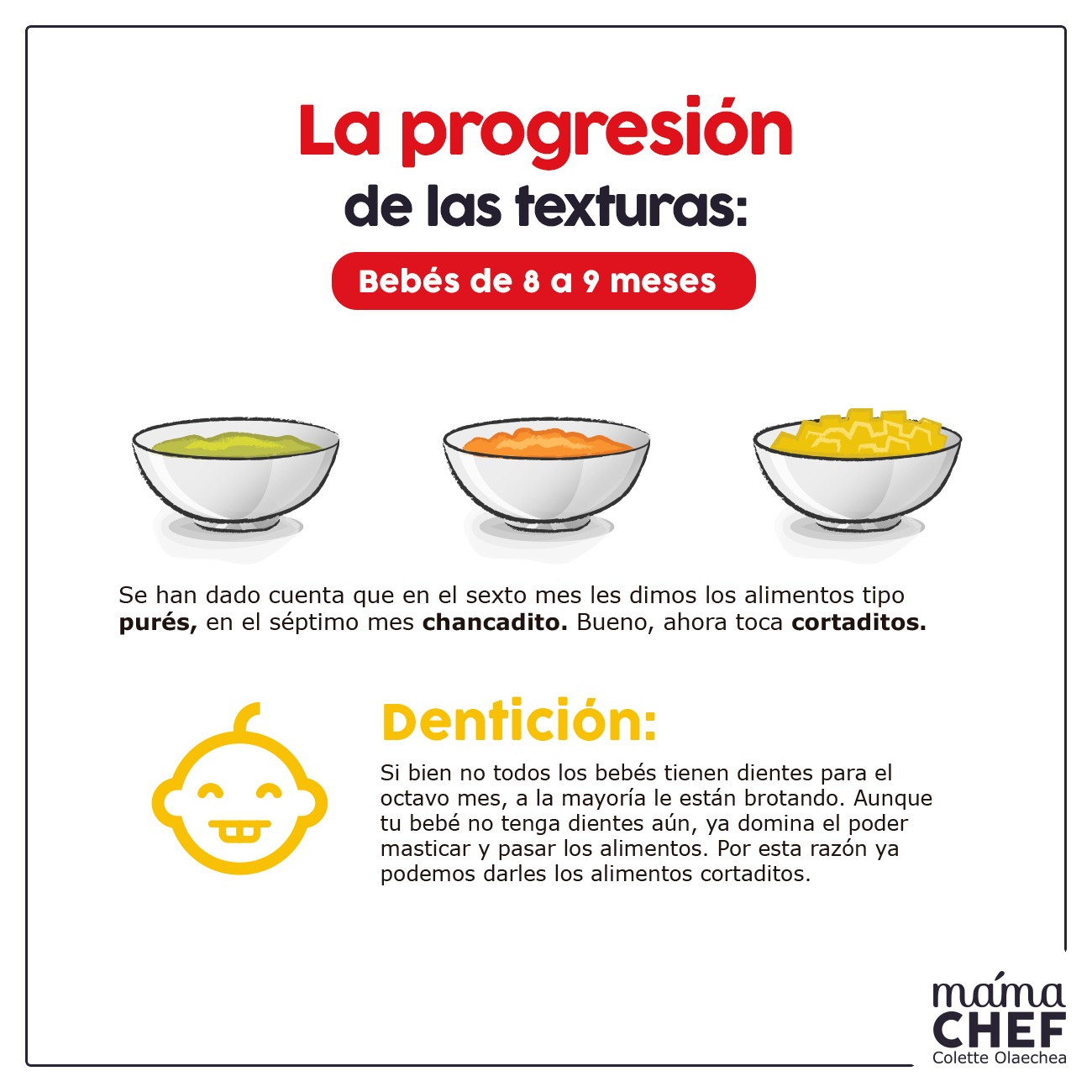 recomendaciones mamá chef- colette olaechea  papillas bebes 8 meses