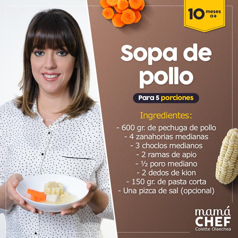 Sopa-de-pollo-Dieta de pollo- Mamá Chef Colette Olaechea