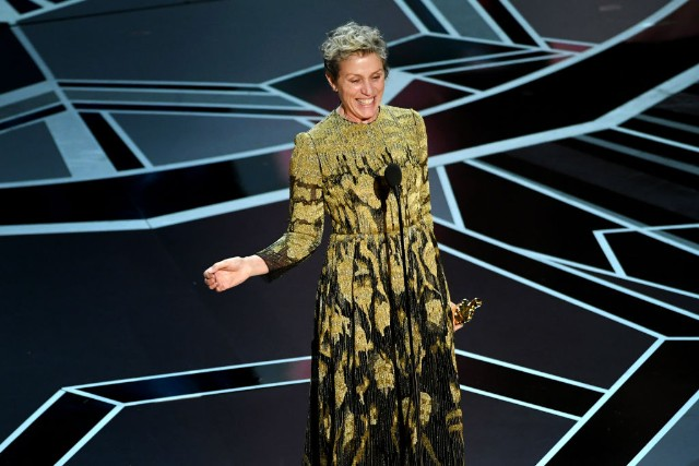 Frances McDormand en los Oscar 2018.