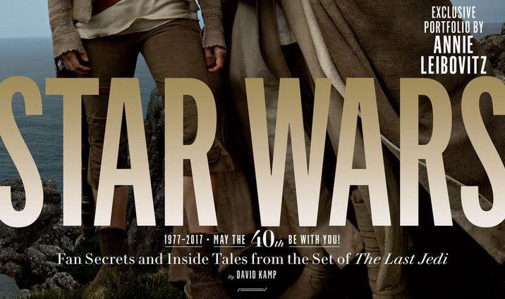 """La revista estadounidense """"Vanity Fair"""" se sumó a las celebraciones por el 40 aniversario de """"Star Wars"""" con un número especial dedicado a la espectacular saga y con fotografías exclusivas de su próxima película: """"Los Últimos Jedi"""". """"Vanity Fair"""" publicó las fotografías de Annie Leibovitz, y en su número homenaje cuenta con un póster conmemorativo y diversos reportajes sobre """"Star Wars"""". En las portadas vemos a Luke Skywalker y Rey, los protagonistas indiscutibles de la..."""