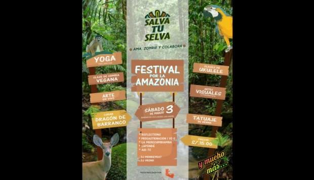 Hoy, sábado 3 de marzo, en la discoteca Dragón de Barranco se realizará el festival #SalvatuSelva