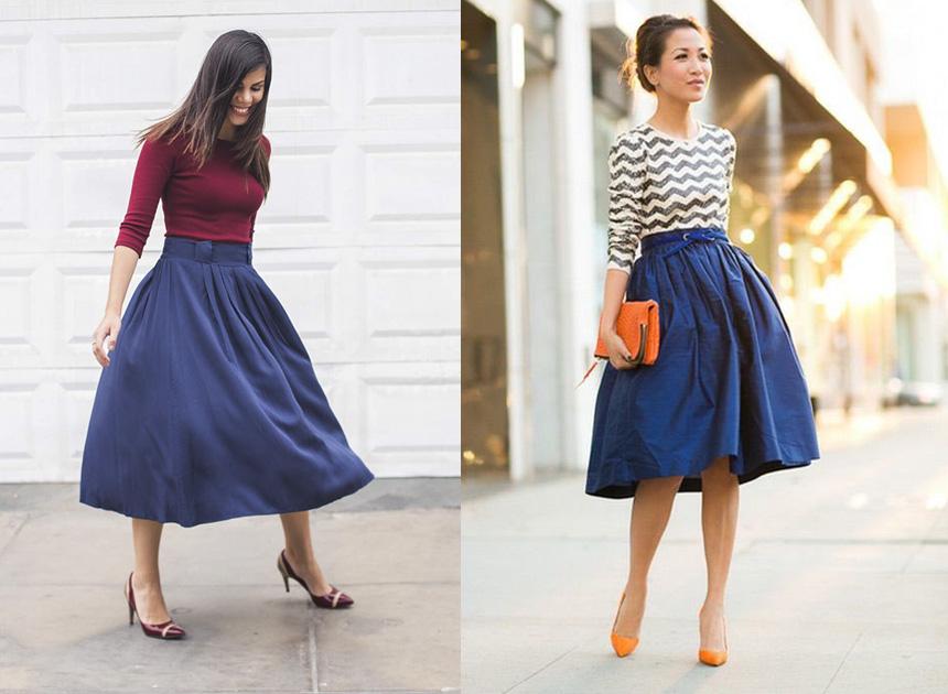77583c6dd Cómo combinar una falda midi en la oficina? | Blogs | El Comercio Perú