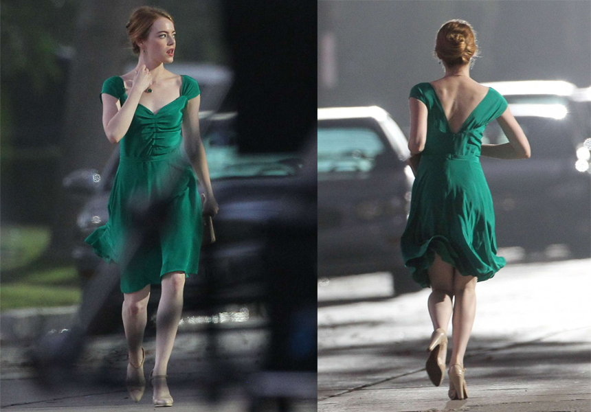 lalaland vestido verde