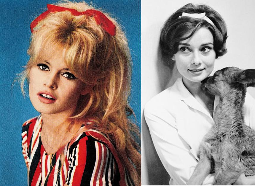 Brigitte Bardot Audrey hepburn