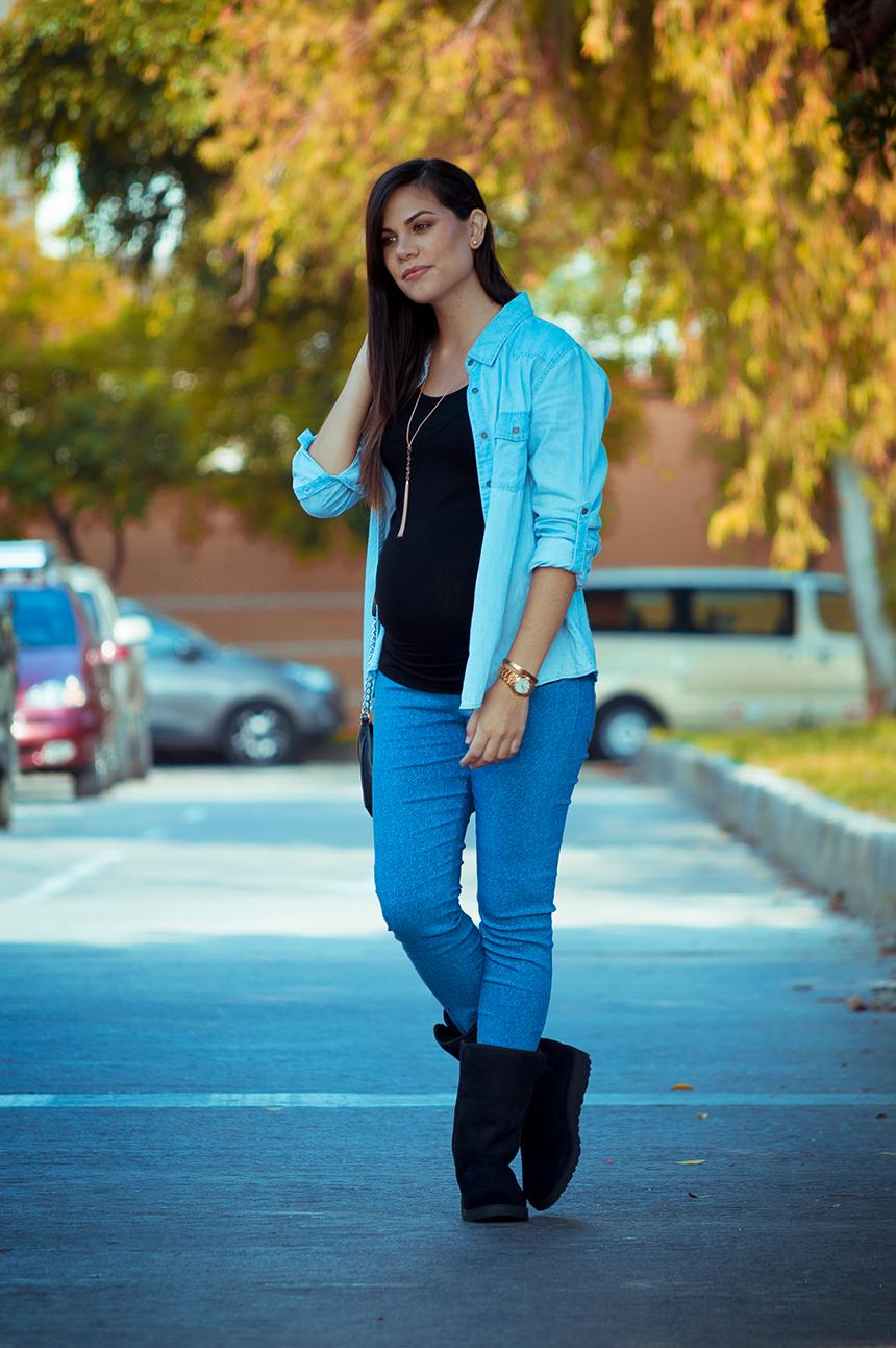 moda embarazadas jean