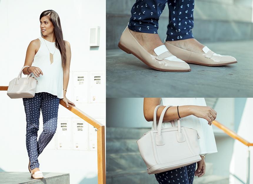 Detalles: Pantalón Mamma , Blusa Mango, Zapatos My Perfect pair