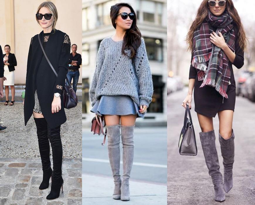 tendencias botas invierno faldas