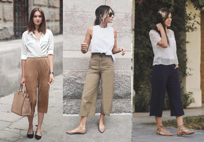 culotte y zapatos sin taco
