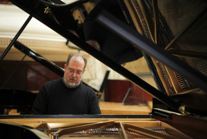 American pianist Garrick Ohlsson plays during rehearsal of Special Concert on the 200th Anniversary of Fryderyk Chopin?s Birth at Warsaw Philharmonic