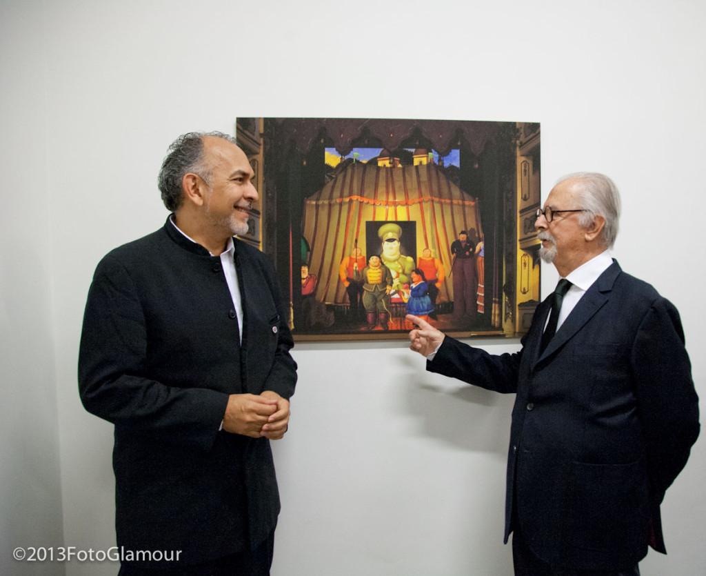 Director de escena Víctor García Sierra y pintor Fernando Botero en la producción en Parma