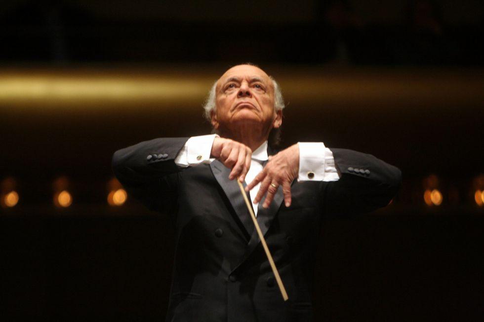 Lorin Maazel, dirigiendo a la Filarmónica de Nueva York. / HIROYUKI ITO (GETTY IMAGES)