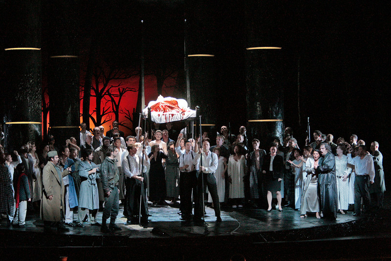"A scene from Act I in verdi's ""Macbeth."" Photo: Ken Howard/Metropolitan Opera"