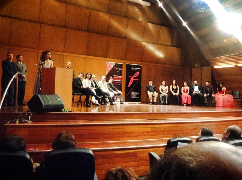 Ganadora Bettina Victorero dió unas palabras de agradecimiento