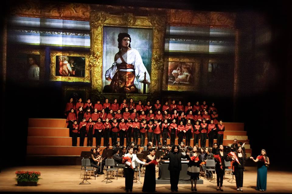 "Oratorio ""Juditha Triumphans"" contó con un imponente video mapping interactivo (Foto: CNN Facebook)"