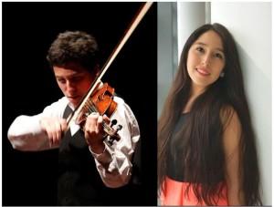 Lorenzo Costa y Priscila Navarro en recital