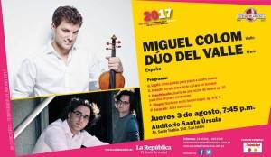 Miguel Colom y Dúo Del Valle en recital