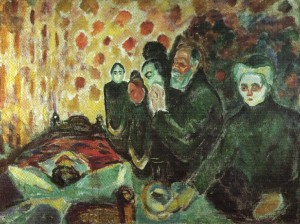 Edvard Munch - close to reads died fever) (1915)