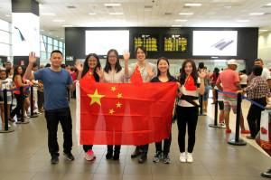 Ocho estudiantes chinos en la PUCP