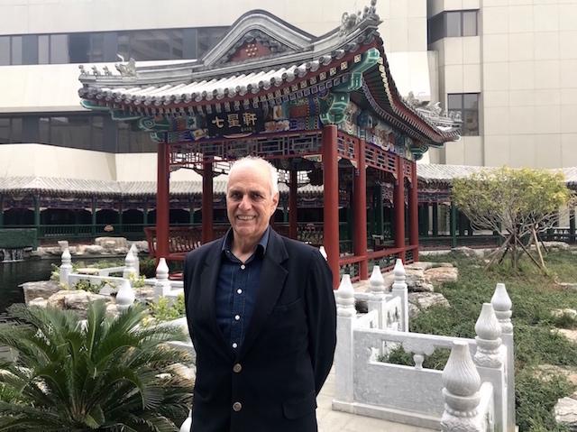 El rector Marcial Rubio en Beijing.