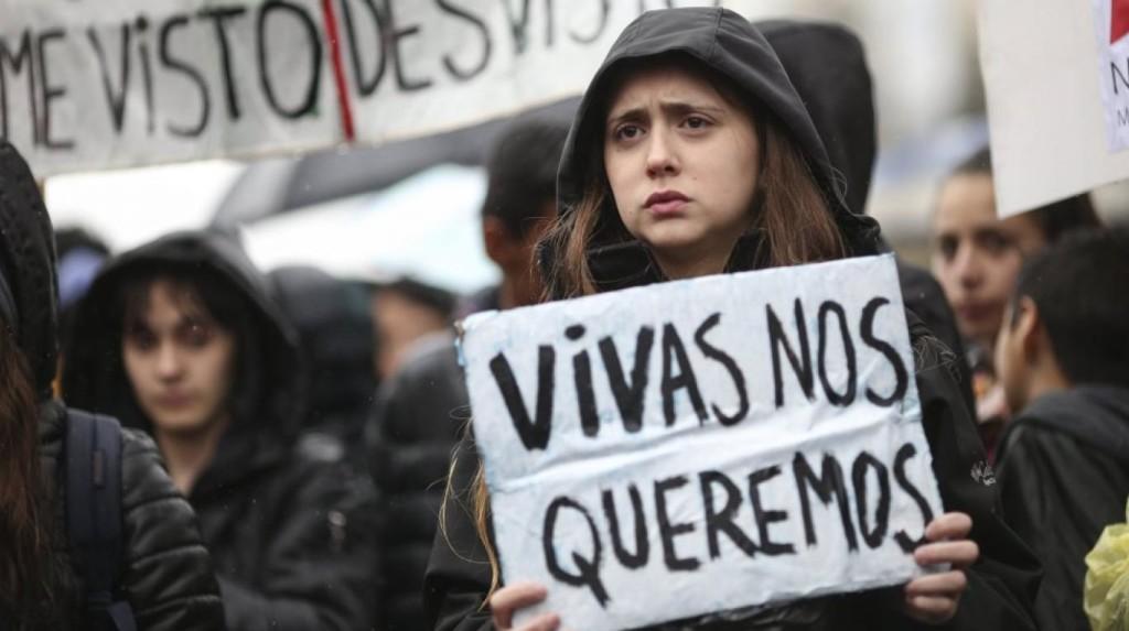Foto tomada en la marcha Ni una menos