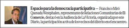 Audiencias de El Comercio: tribuna del pueblo