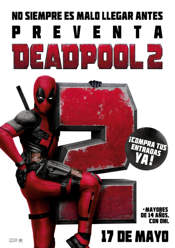 Deadpool II estrena nuevo trailer, hoy. Al mismo tiempo empieza la preventa de entradas para la película que se estrena el 17 de mayo.
