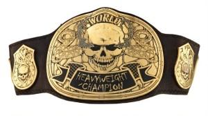 El cinturón de campeonato modificado especialmente para Stone Cold, el mismo que sale en el video de lanzamiento. (Foto: WWE.com)