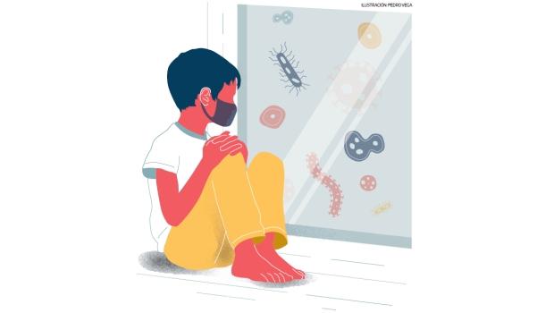 """La """"teoría higiénica"""" de la enfermedad dice que los niños que son criados en ambientes muy limpios, pueden sufrir de enfermedades alérgicas e incluso de cáncer infantil. Al parecer, la falta de """"entrenamiento"""" del sistema de defensa de los niños, haría que se desarrollen esas enfermedades. (Ilustración: Pedro Vega / El Comercio)"""