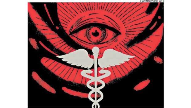 """Un fenómeno psicológico social tan antiguo como la humanidad, pero de reciente relevancia mundial, es el de las teorías de conspiración, que el diccionario Oxford define como """"la creencia de que una organización secreta pero poderosa es responsable de un evento"""". Un recientes suceso ocurrido en el Perú, han hecho que ciertos grupos religiosos expresen abiertamente sus extravagantes teorías de conspiración. Hoy veremos cual es el impacto de las teorías de conspiración en el campo de la salud. (Ilustración: Jhafet Ruiz / El Comercio)"""