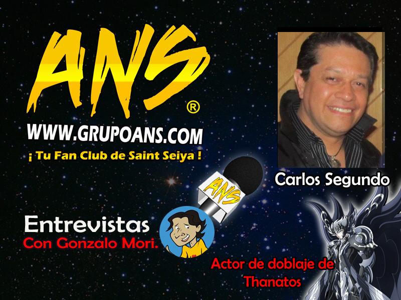 ¡Escucha la entrevista a Carlos Segundo! ¡Voz de de Thanatos, ALF, Piccoro y muchos más!
