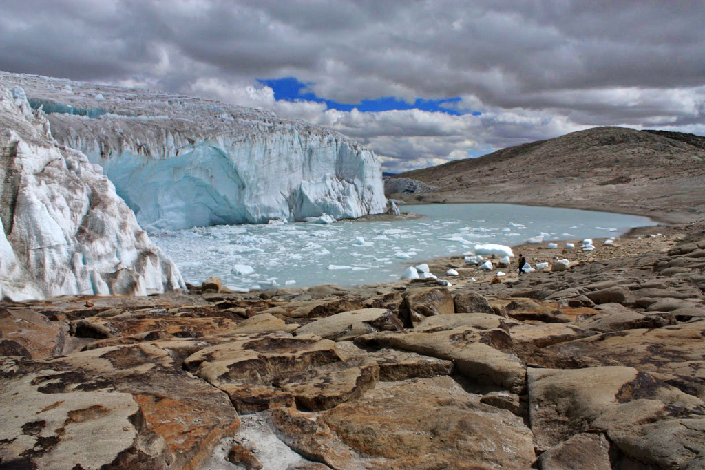 Glaciar de Quelccaya. Fuente: Wikimedia Commons