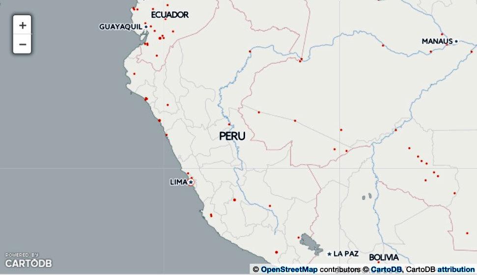 Lugares donde más se usa Sci-Hub en Perú. Fuente: Science.
