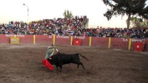 FOTO: PABLO JAVIER GÓMEZ DEBARBIERI CONCEDIDO. Alfonso de Lima simula la suerte suprema con una banderilla tras haber sido indultado el sexto toro.