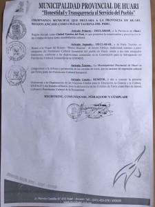 Ordenanza Huari Ancash pag 03