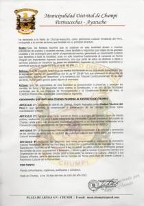 Resoluc Munic Chumpi Ayacucho pag 02