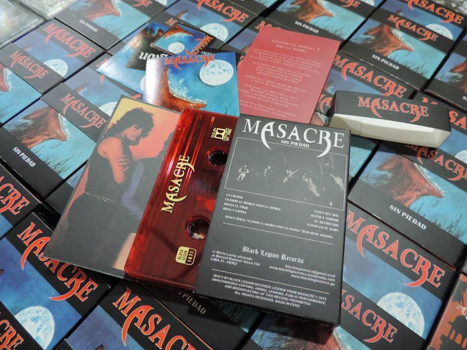 30 años después de su grabación, el Sin Piedad, de Masacre [hoy M.A.S.A.C.R.E.] cuenta con dos nuevas interesantes ediciones: formato vinilo por el sello alemán Underground Power, y en cassette de lujo, por el nacional Black Legions.