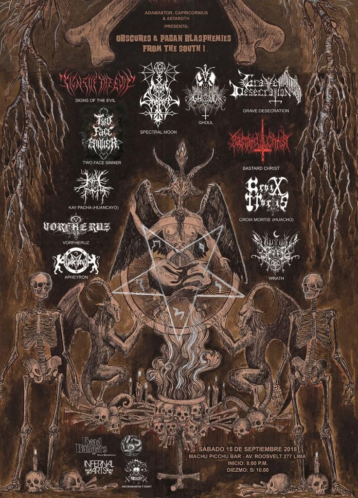 El black metal peruano alista un nuevo ataque este 15 de septiembre. Brutal cartel de bandas.