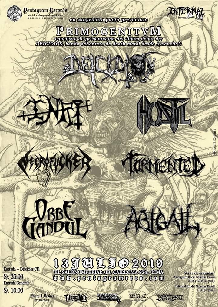 Deicidios, legendaria banda ayacuchana de metal extremo, presenta su esperado PrimogenituM, primer larga duración.