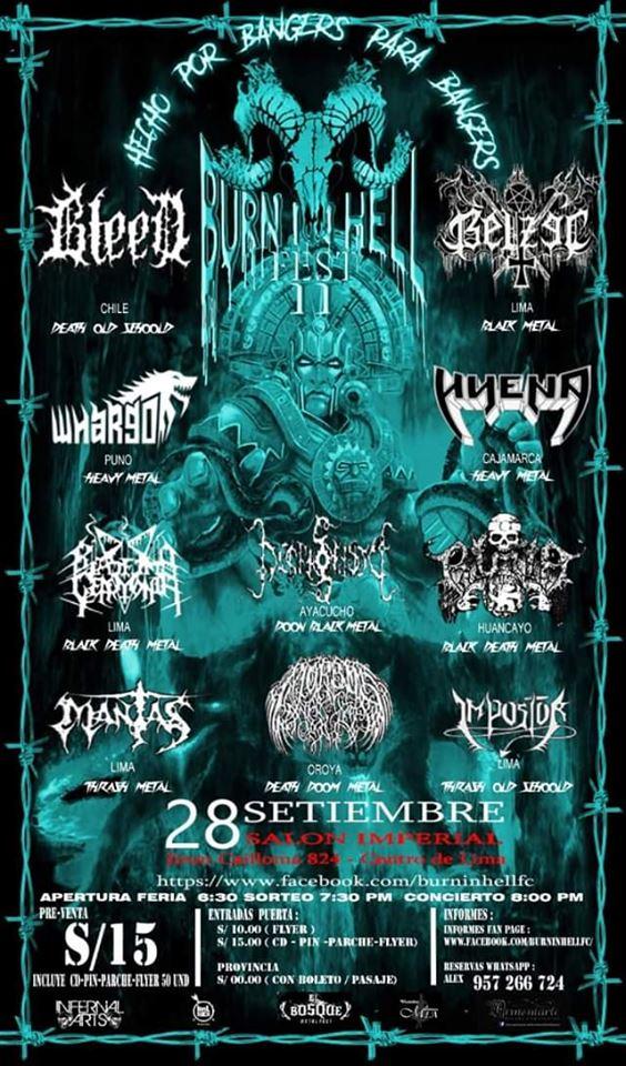 Esperada y celebrada noche de metal underground - Burn in Hell II