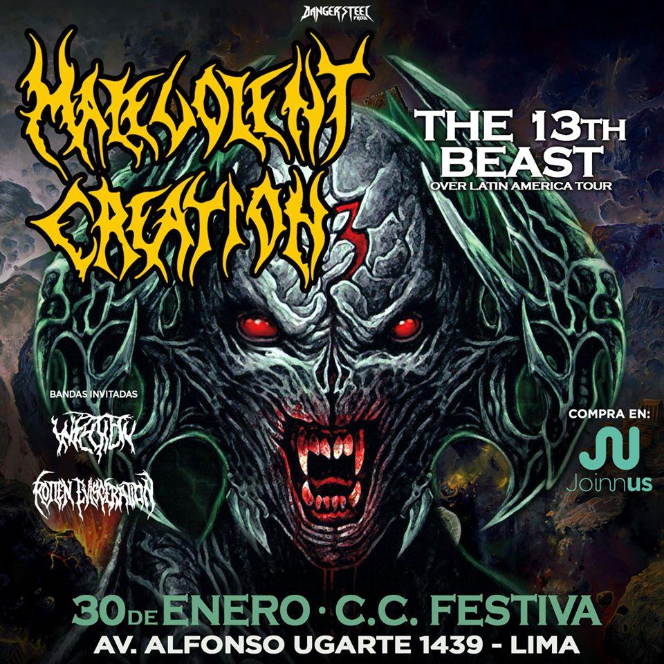 Malevolent Creation en Lima luego de más de una década: el reencuentro con el death metal sin adjetivos