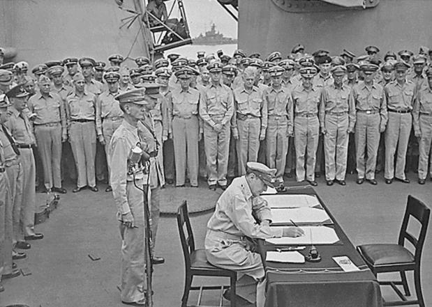 firma del fin de la segunda guerra 619 AFP