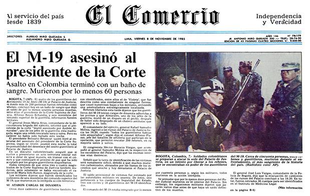 Se cumplen 30 años de la toma del Palacio de Justicia de Colombia