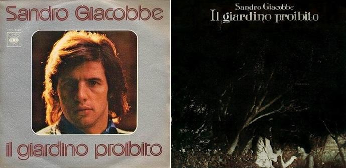 """""""Il gardino proibito"""", disco sencillo (a la izq.) y álbum de 1975."""