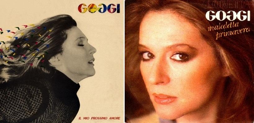 """(A la izq.) """"Il mio prossimo amore"""", álbum de 1981 que incluyó """"Maledetta primavera"""". (A la der.) Disco sencillo de la canción."""