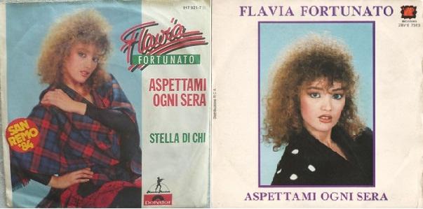 """Discos sencillos de """"Aspettami ogni sera"""", de 1984."""