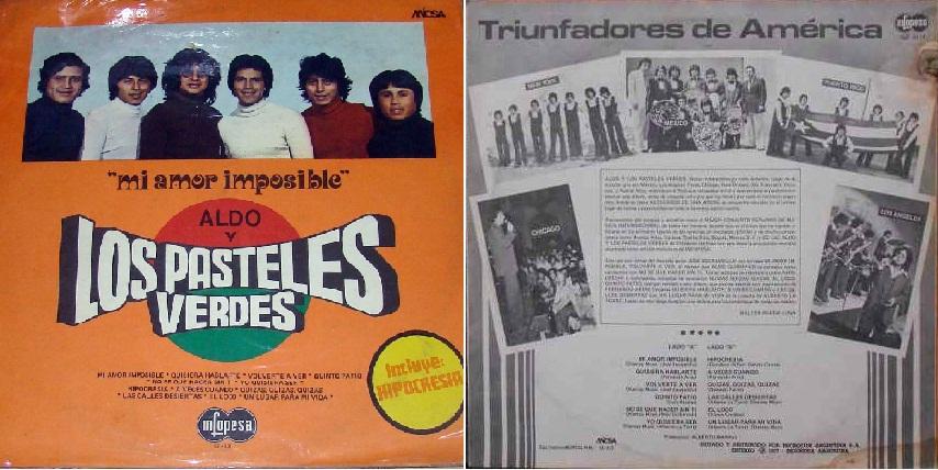"""Mi amor imposible"", disco de 1976 que incluyó ""Hipocresía""."