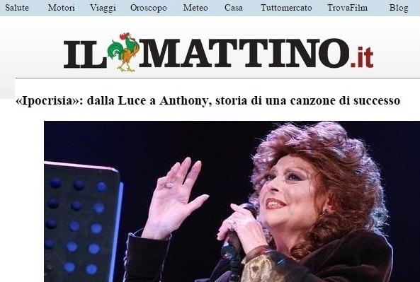 """Artículo del diario italiano """"Il Mattino"""" que menciona a Los Pasteles Verdes."""
